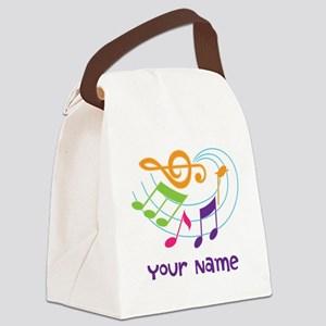 Personalized Music Swirl Canvas Lunch Bag