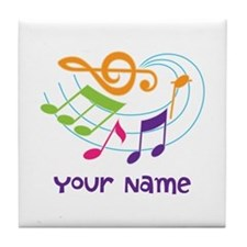 Personalized Music Swirl Tile Coaster