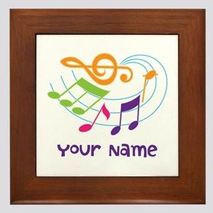 Personalized Music Swirl Framed Tile