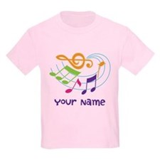 Personalized Music Swirl Kids Light T-Shirt