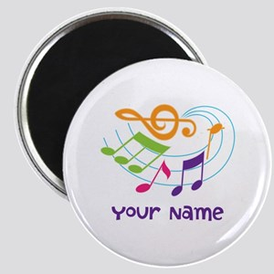 Personalized Music Swirl Magnet