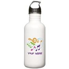 Personalized Music Swirl Stainless Water Bottle 1.