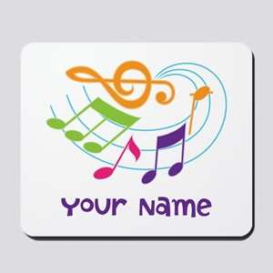 Personalized Music Swirl Mousepad