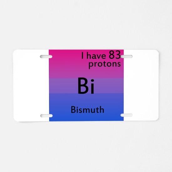 Bismuth Aluminum License Plate