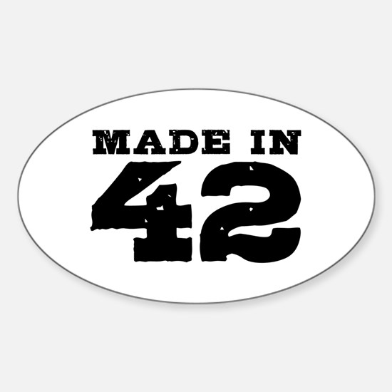 Made in 42 Sticker (Oval)