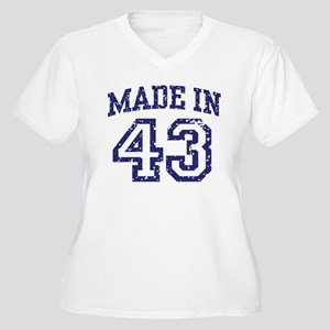 Made in 43 Women's Plus Size V-Neck T-Shirt