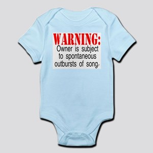 Warning:  Owner subject to sp Infant Creeper