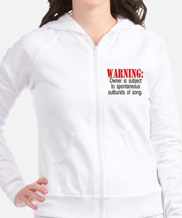 Warning:  Owner subject to sp Fitted Hoodie