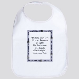 Did My Heart Not Love Till Now Cotton Baby Bib