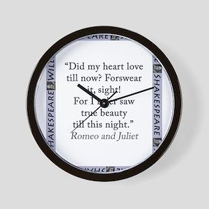 Did My Heart Not Love Till Now Wall Clock