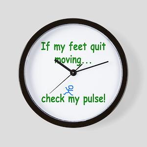 Check My Pulse Wall Clock