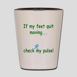 Check My Pulse Shot Glass