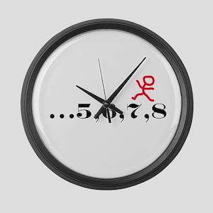5,6,7,8 Large Wall Clock