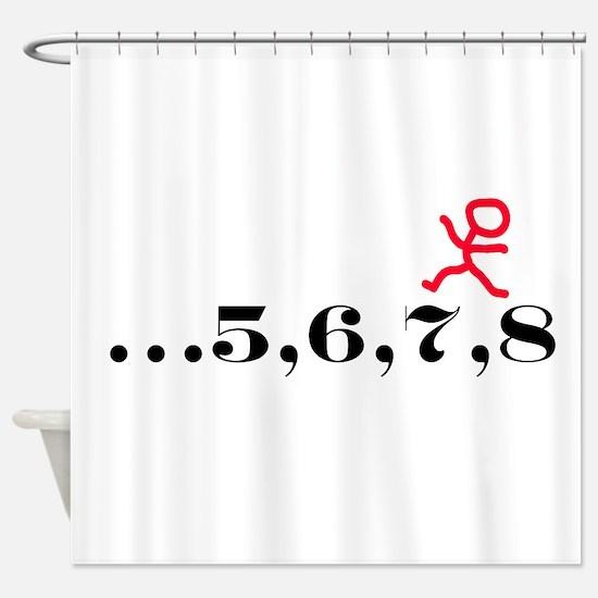 5,6,7,8 Shower Curtain