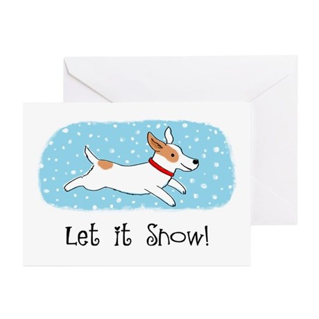 Jack Russell Let it Snow Greeting Cards (Pk of 10)