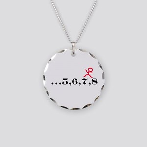5,6,7,8 Necklace Circle Charm