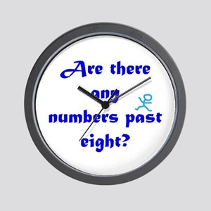 Numbers Past Eight Wall Clock