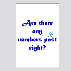 Numbers Past Eight Postcards (Package of 8)