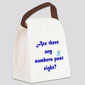 Numbers Past Eight Canvas Lunch Bag