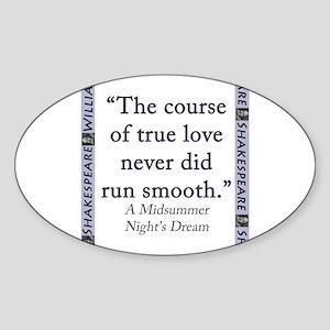 The Course of True Love Sticker (Oval)