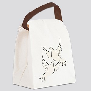 White Doves Canvas Lunch Bag