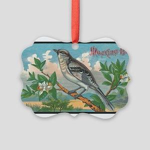 Mocking Bird Picture Ornament