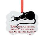 Cats are Evil Picture Ornament