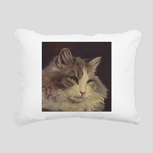Green Eyed Cat Rectangular Canvas Pillow