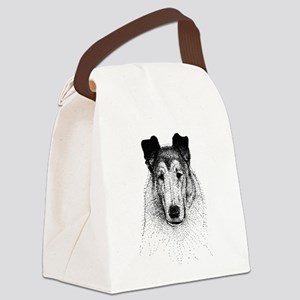 Smooth Collie Head Canvas Lunch Bag