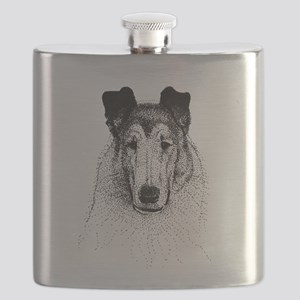 Smooth Collie Head Flask