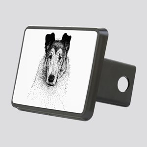 Smooth Collie Head Rectangular Hitch Cover
