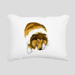 Chase, Asleep Rectangular Canvas Pillow