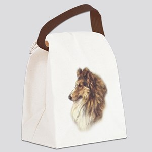 Vintage Collie Canvas Lunch Bag