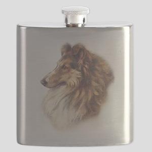 Vintage Collie Flask