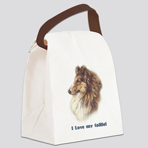 I Love my Collie Canvas Lunch Bag