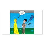 Umbrella Sticker (Rectangle 10 pk)