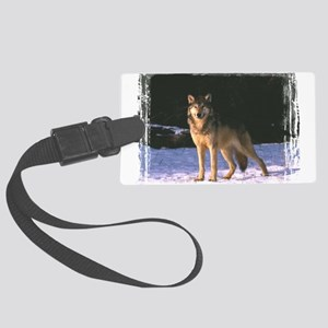 wolf0304h0013 Large Luggage Tag