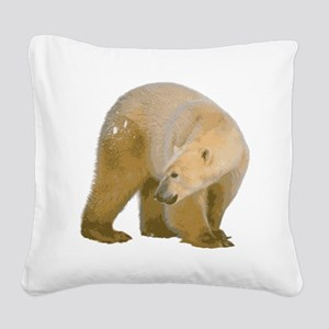 c173h0004polarbear Square Canvas Pillow