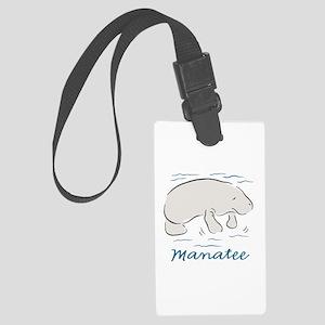 Manatee Large Luggage Tag
