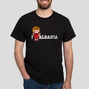 I Love Albania Black T-Shirt