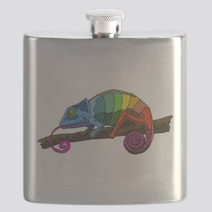 Rainbow Chameleon Flask