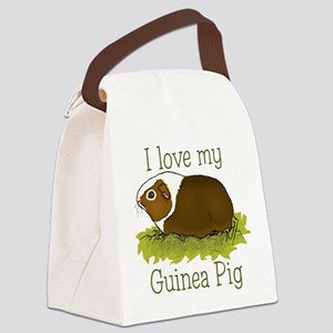 I Love my Guinea Pig Canvas Lunch Bag
