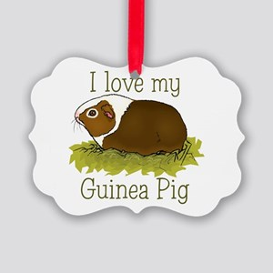 I Love my Guinea Pig Picture Ornament