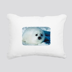 Baby Seal Rectangular Canvas Pillow