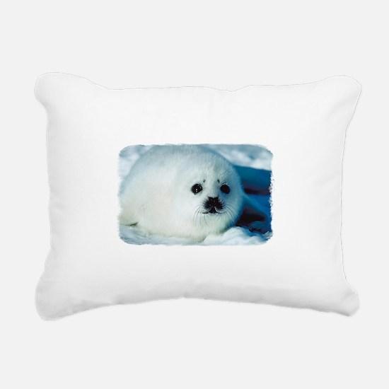 Baby Seal Rectangular Canvas Pillow