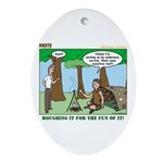 Wilderness Survival Ornament (Oval)