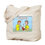 Small Boat Sailing Tote Bag
