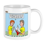 Small Boat Sailing Mug