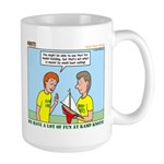 Small Boat Sailing Large Mug