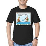Canoeing Men's Fitted T-Shirt (dark)
